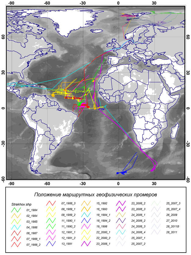 Survey Regions and Expeditions of Geological Institute in